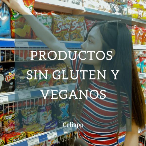Productos sin gluten y veganos